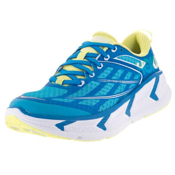 Hoka One One Women's W Odyssey 2 Dresden Blue/Sunny Lime Running Shoe