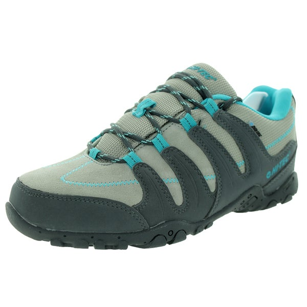 Hi-Tec Women's Romsey Low WP Grey/Graphite/Bahama Blue Hiking Shoe