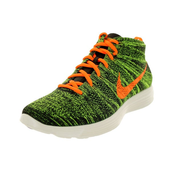 Nike Men's Lunar Flyknit Chukka Black/Orange/Sq/Prcht Gld Lifestyle Shoe