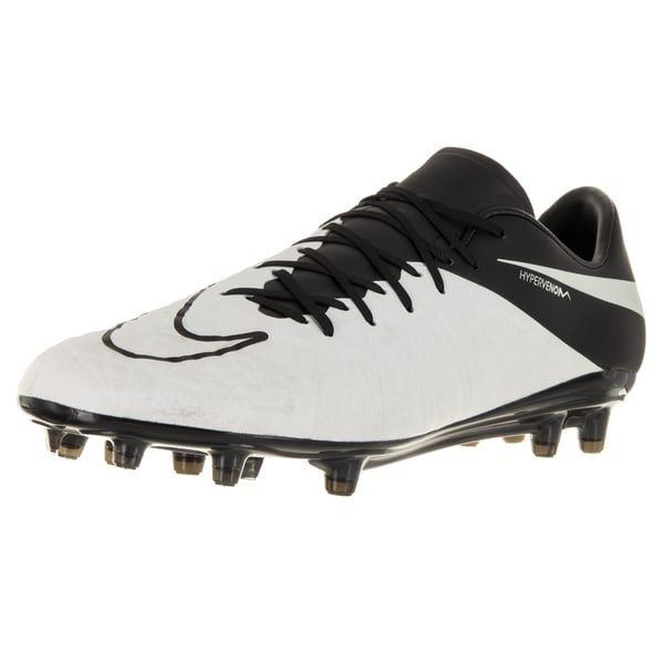 Nike Men's Hypervenom Phinish Lthr Fg Light Bone/Light Bone/Black/Black Soccer Cleat
