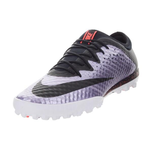 Nike Men's Mercurialx Finale Tf Urban Lilac/Black/Brightt Mango Turf Soccer Shoe
