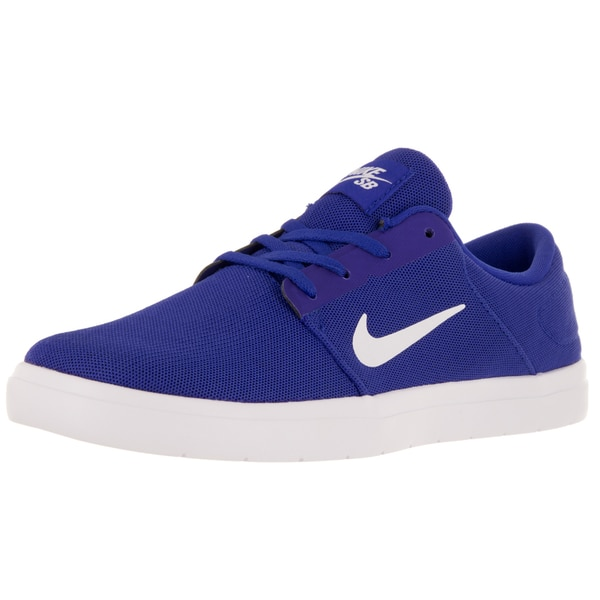 Nike Men's Sb Portmore Ultralight Racer Blue/White/Dp Royal Blue Skate Shoe
