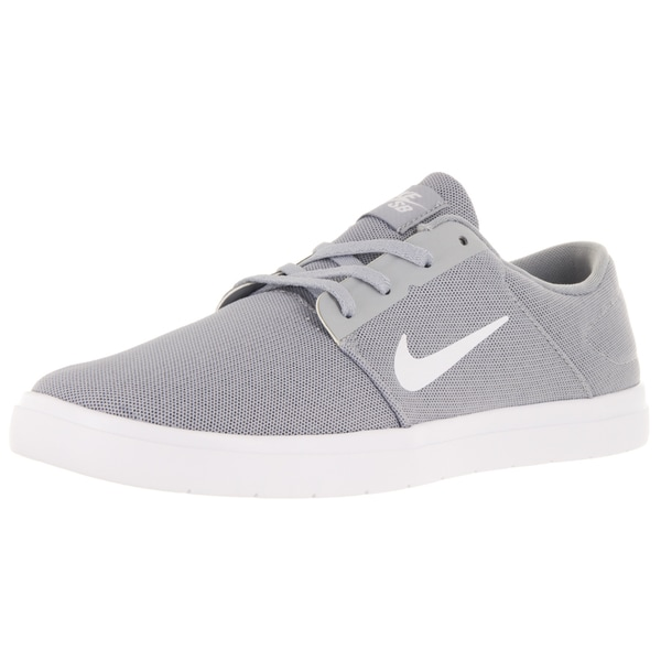 Nike Men's Sb Portmore Ultralight Wolf Grey/White/Cool Grey Skate Shoe
