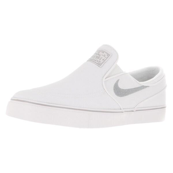 Nike Men's Zoom Stefan Janoski Slip Cnvs White/Wolf Grey/White Skate Shoe
