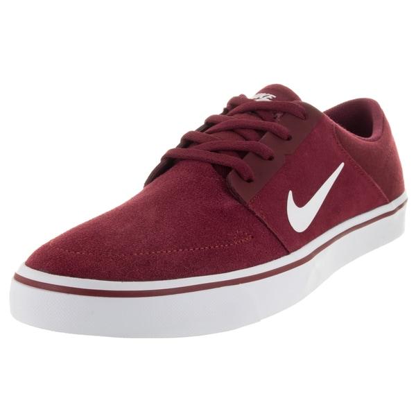 Nike Men's Sb Portmore Team Red/White Skate Shoe