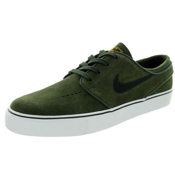 Nike Men's Zoom Stefan Janoski Sequoia/Black/University Gld/White Skate Shoe