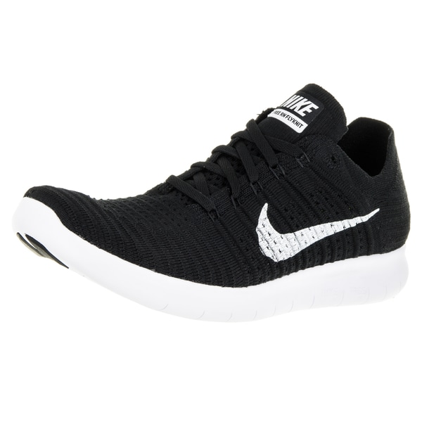 Nike Men's Free Flyknit Black/White Running Shoe