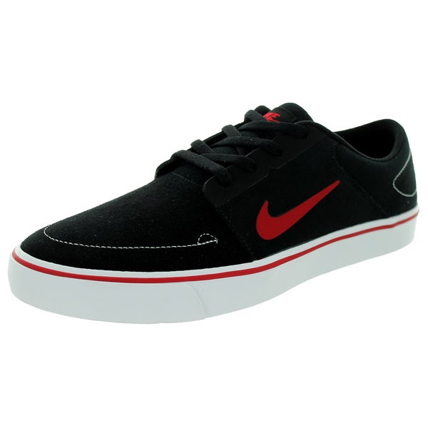 Nike Men's Sb Portmore Black/Gym Red/White Skate Shoe