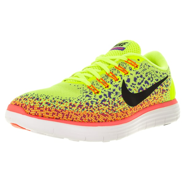 Nike Men's Free Distance Volt/Black/ Orange Running Shoe