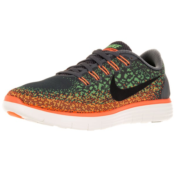 Nike Men's Free Distance Wolf Grey/Black/Rg G/Orange Running Shoe 19852720