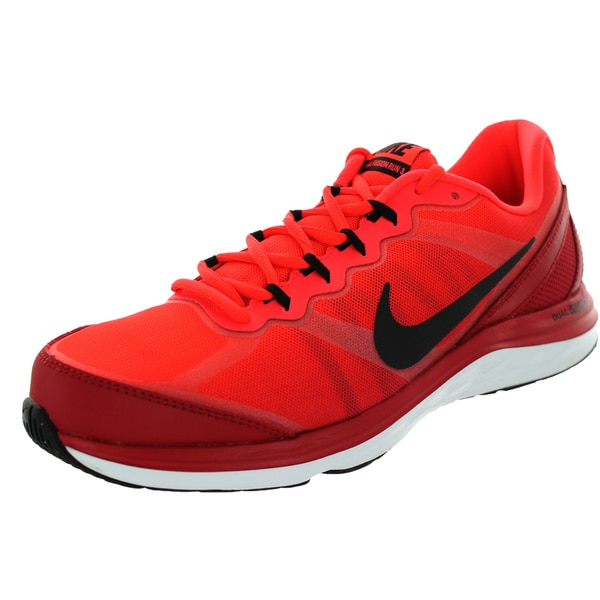 Nike Men's Dual Fusion Run 3 Premium Gym Red/Black/Brgh/White Running Shoe