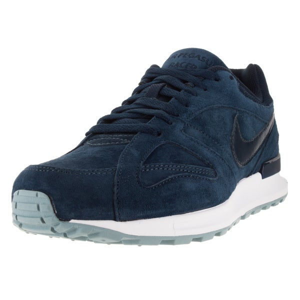 Nike Men's Air Pegasus New Racer Prm Obsidian/Obsidian/White/Bl Running Shoe