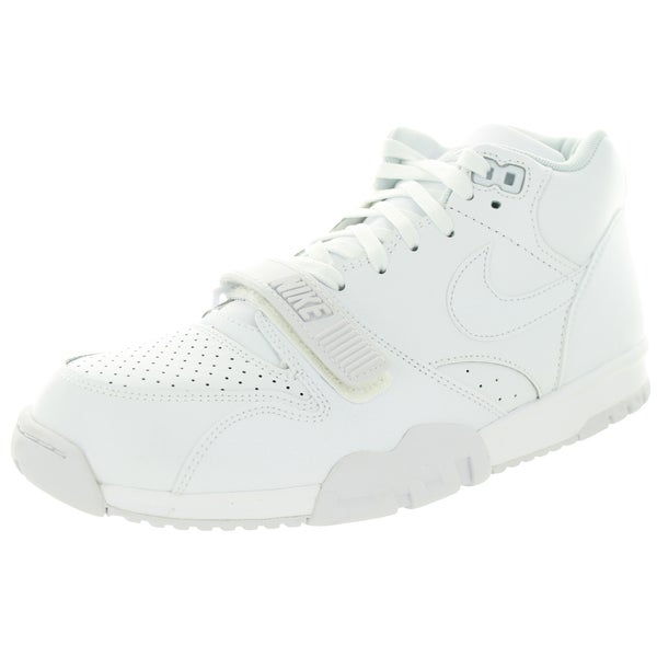 Nike Men's Air Trainer 1 Mid White/White/Pure Platinum Training Shoe