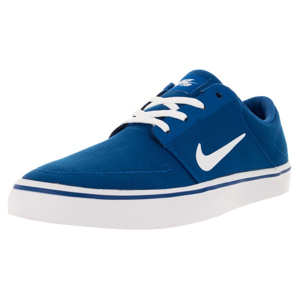 Nike Men's Sb Portmore Cnvs Game Royal/White Skate Shoe