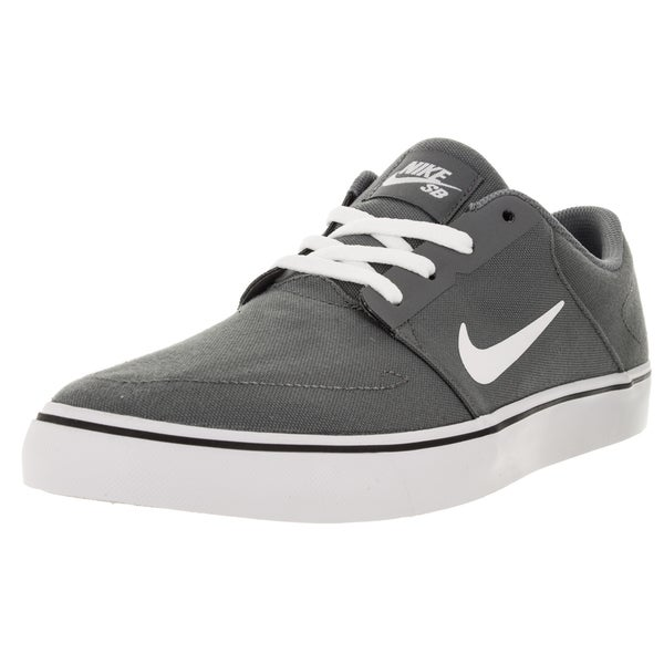 Nike Men's Sb Portmore Cnvs Cool Grey/White/Black Skate Shoe