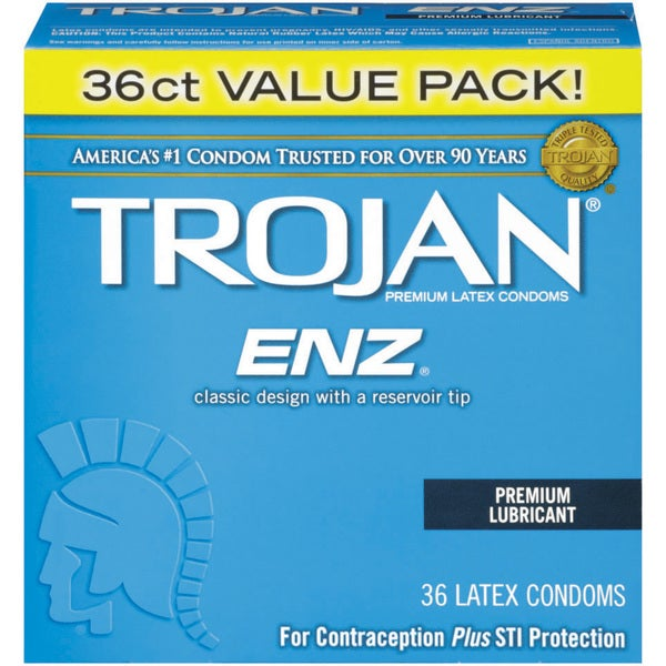 Trojan ENZ Latex 36-count Lubricated Condoms 19853320