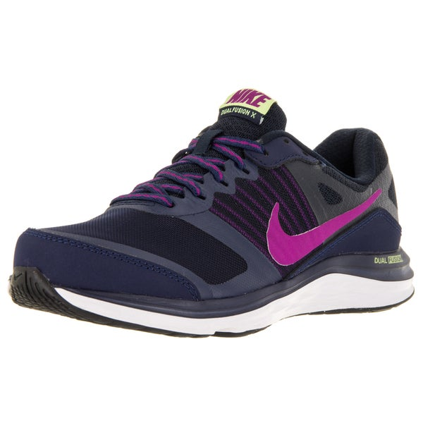 Nike Women's Dual Fusion X Mid Navy/Drk Obsdn/Gh Running Shoe