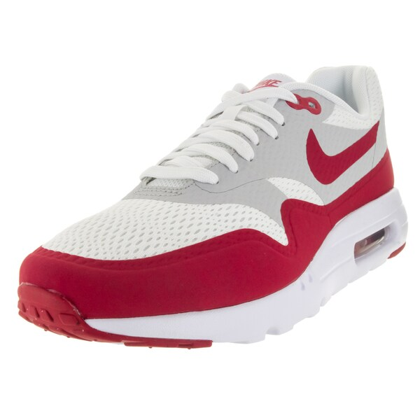 Nike Men's Air Max 1 Ultra Essential White/Vrsty Red/Ntrl /White Running Shoe