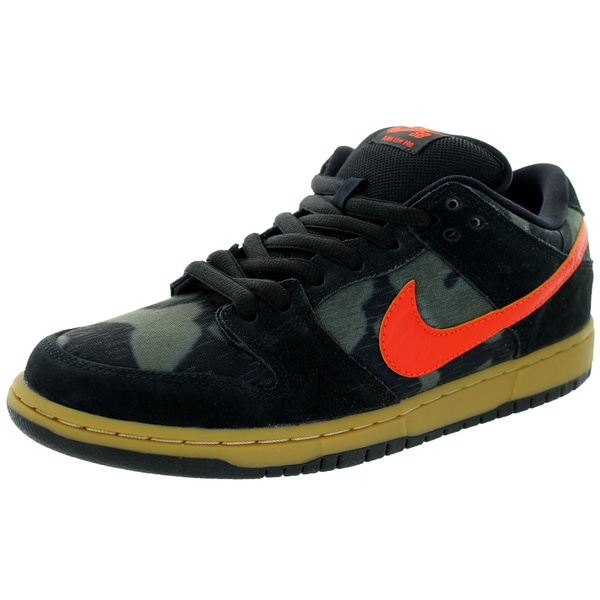 Nike Men's Dunk Low Premium Sb Black/Team Orange/Rough Green Skate Shoe
