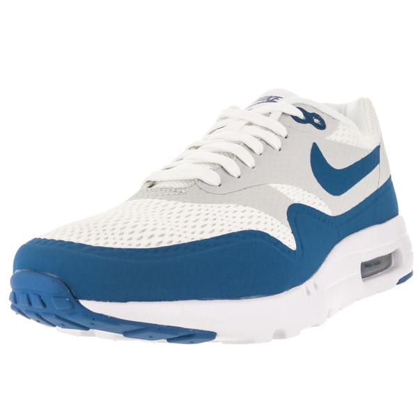 Nike Men's Air Max 1 Ultra Essential White/Pure Platinum/Vrsty Blue Running Shoe