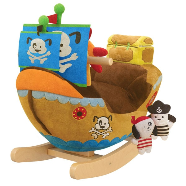 Gibson Living Arr Puppy Pirate Ship Kids Rocker with Music