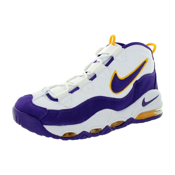 Nike Men's Air Max Uptempo White/Court Purple/White/White Basketball Shoe