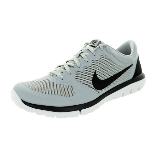 Nike Men's Flex 2015 Wolf Grey/Black/White Running Shoe