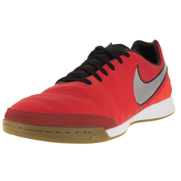 Nike Men's Tiempo Mystic V Ic Light Crimson/Metallic Silver/ Indoor Soccer Shoe