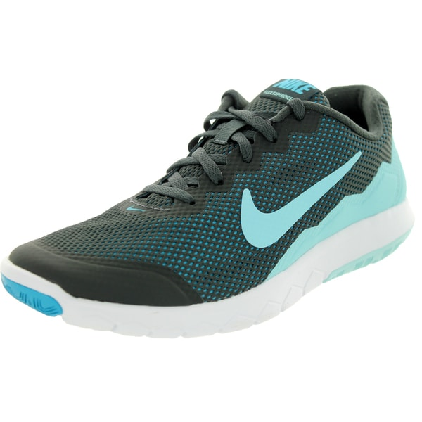 Nike Women's Flex Experience 4 Anthracite/Copa/Bl Lagoon/White Running Shoe