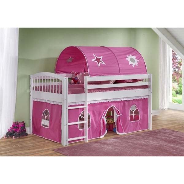 Children's Addison Wood Playhouse Loft Bed
