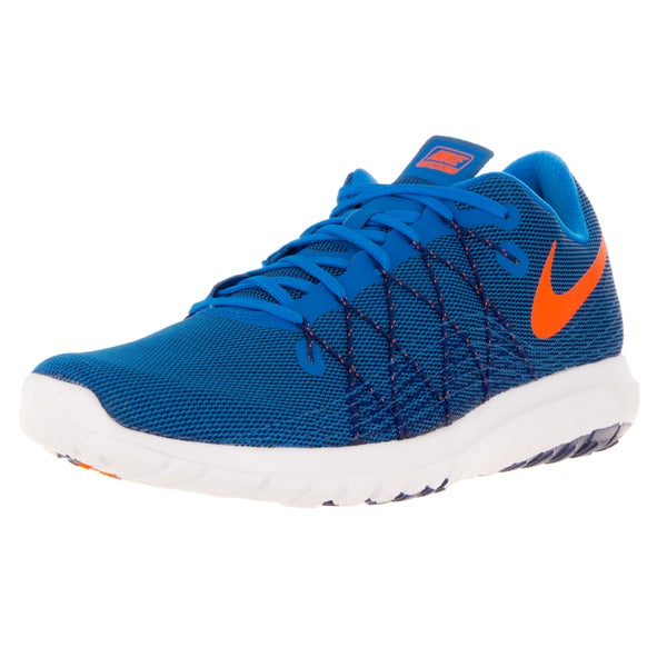 Nike Men's Flex Fury 2 Photo Blue/Orange/Royal Blue/White Running Shoe