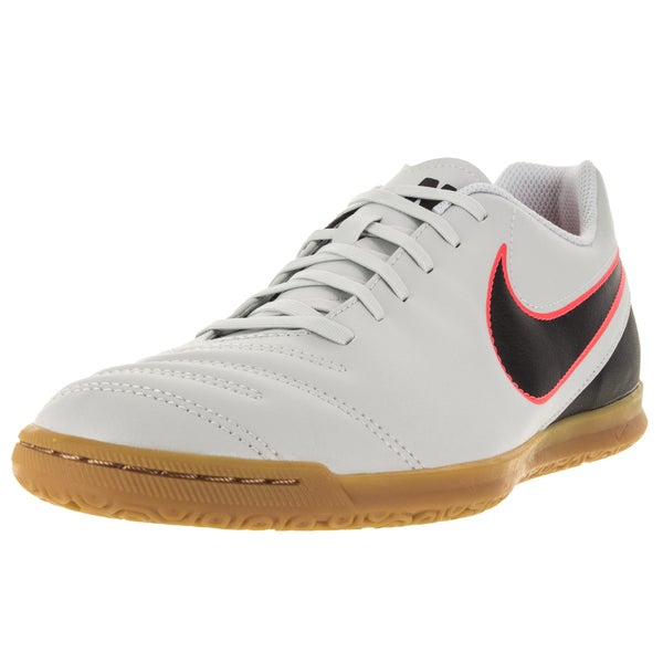 Nike Men's Tiempo Rio Iii Ic Pure Platinum/Black/ Orange Soccer Cleat