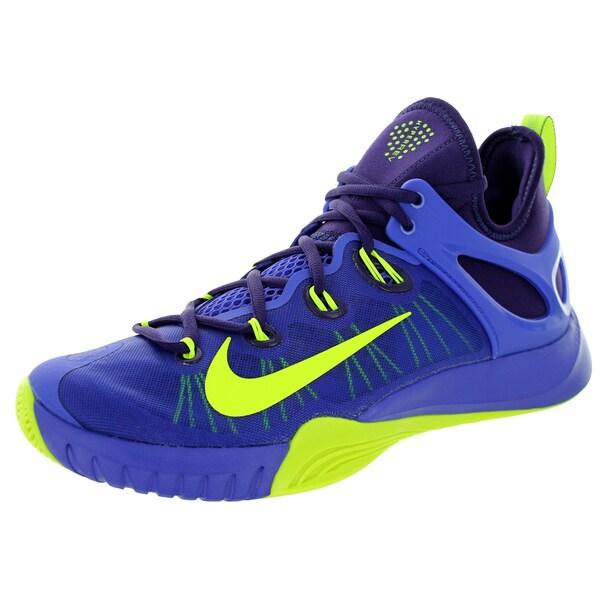 Nike Men's Zoom Hyperrev 2015 Persian Violet/Volt Ink Basketball Shoe