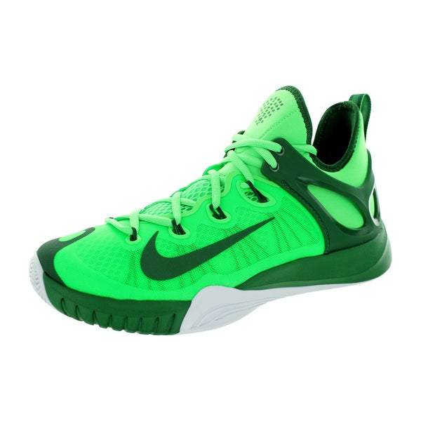 Nike Men's Zoom Hyperrev 2015 Poison Green/GOrangee Greem/White Basketball Shoe