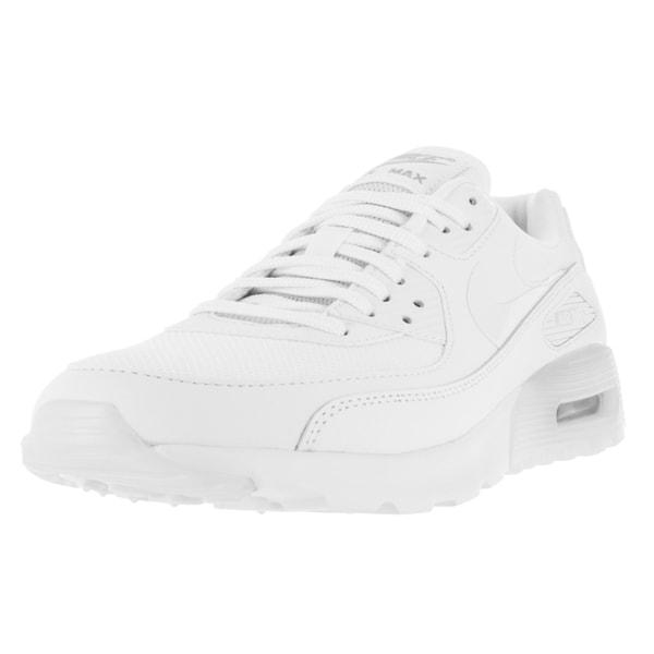 Nike Women's Air Max 90 Ultra Essential White/White/Metallic Silver Running Shoe