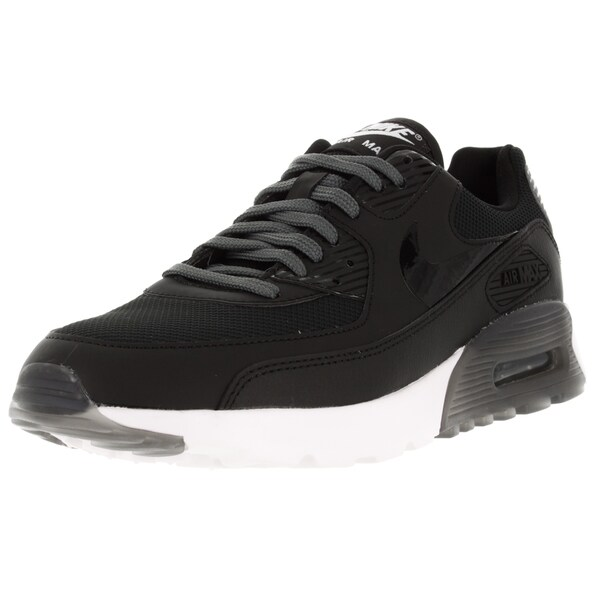 Nike Women's Air Max 90 Ultra Essential Black/Black/Dark Grey/Pr Platinum Running Shoe
