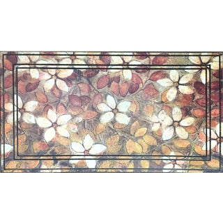 Home Dynamix All-season Leaf Art Polyester 22-inch x 34-inch Non-slip Indoor/Outdoor Doormat