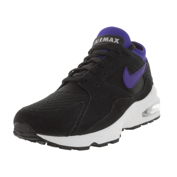 Nike Men's Air Max 93 Black/ Violet/Metallic Silver Running Shoe