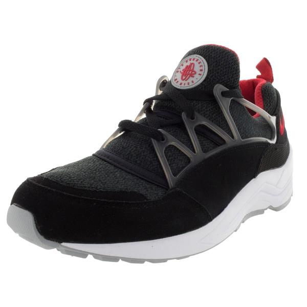 Nike Men's Air Huarache Light Black/University Red/Wolf Grey Running Shoe