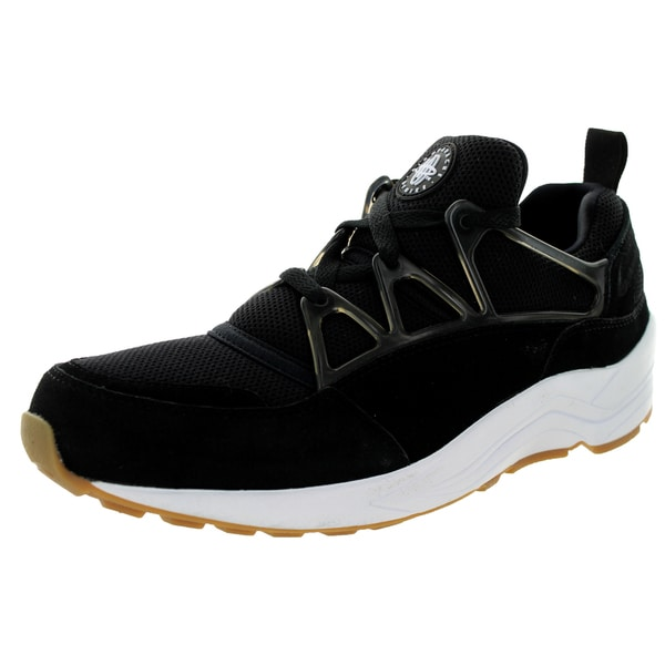 Nike Men's Huarache Light Black/White/White/Gm Light Brown Running Shoe