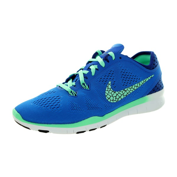 Nike Women's Free 5.0 Tr Fit 5 Brthe Soar/Green Glow/Royal Blue/Black Training Shoe