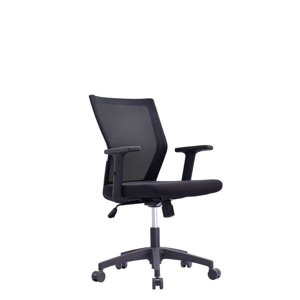 Zack Black Low Back Office Chair