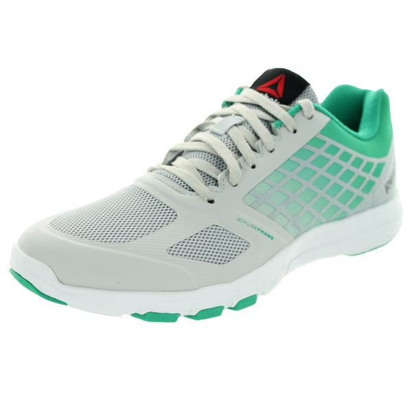Reebok Women's Quantum Leap Steel/Green/White Training Shoe