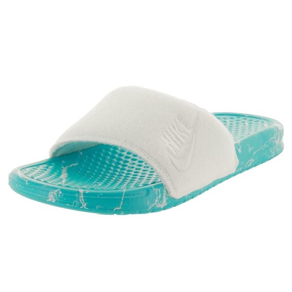 Nike Men's Benassi Jdi Pool Pack Qs White/White/Clearwater Sandal
