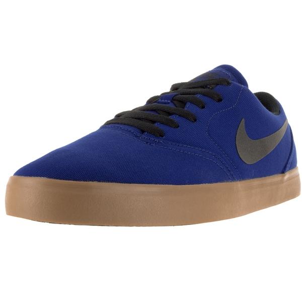Nike Men's Sb Check Cnvs Dp Royal Blue/Black/Gm Lght Brown Skate Shoe