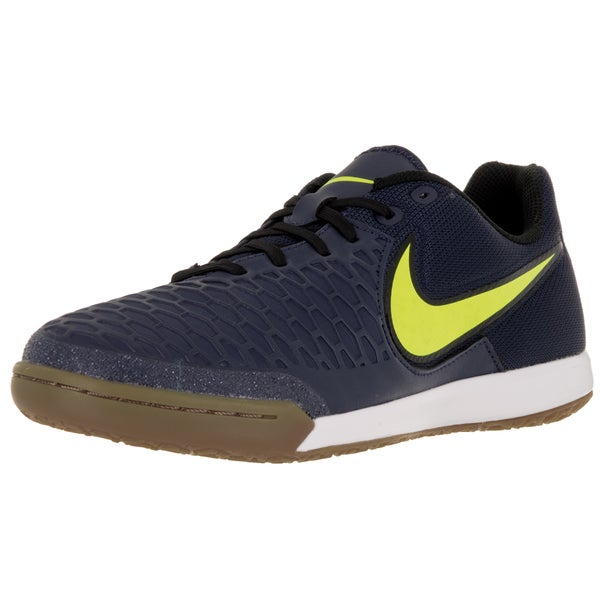 Nike Men's Magistax Pro Ic Mid Navy/Gm Lght Brown/White Indoor Soccer Shoe