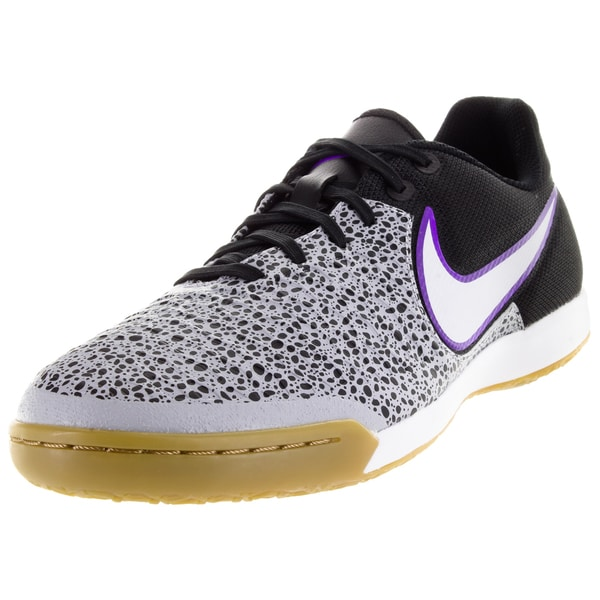 Nike Men's Magistax Pro Ic Wolf Grey/White/Black/Frc Purple Indoor Soccer Shoe