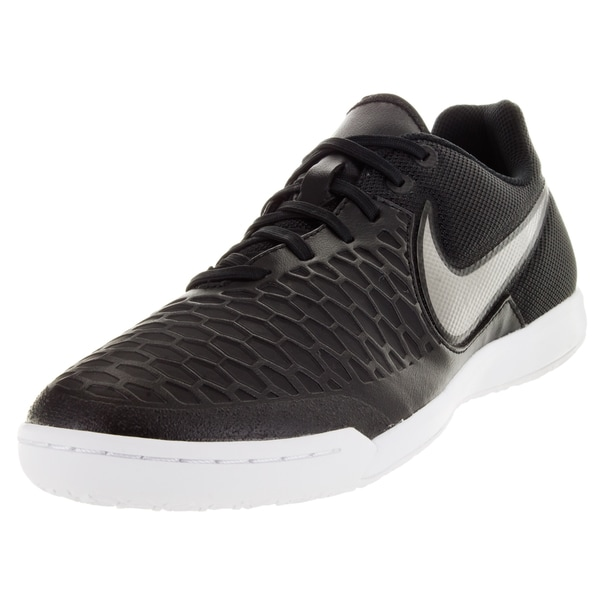 Nike Men's Magistax Pro Ic Black/Metallic Pewter/White/G Glw Indoor Soccer Shoe