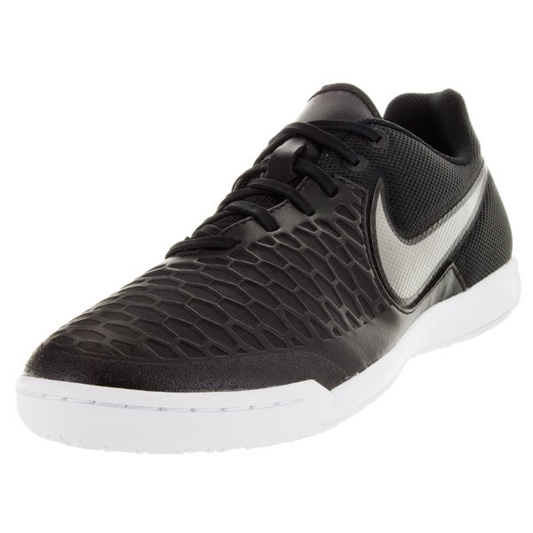 Nike Men's Magistax Pro Ic Black/Metallic Pewter/White/G Glw Indoor Soccer Shoe