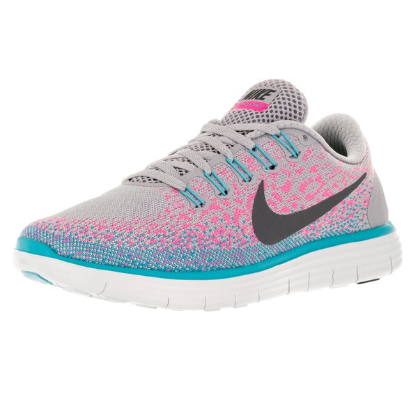 Nike Women's Free Distance Wolf Grey/Dark Grey/Pink Blast Running Shoe